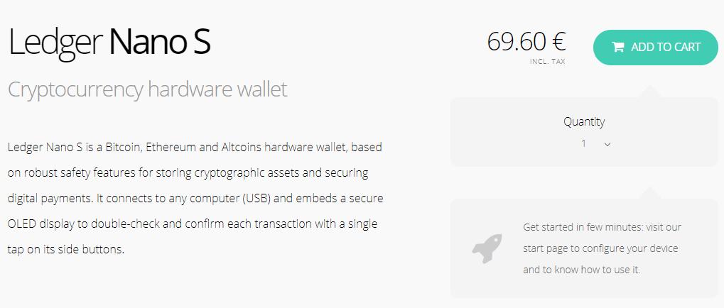 comprar ledger wallet nano s