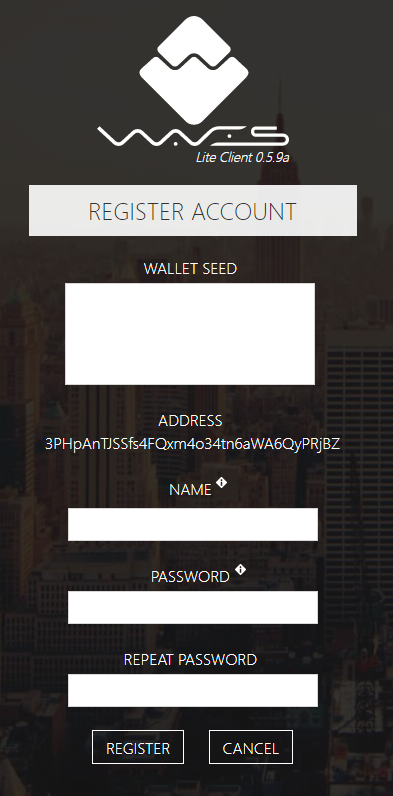 registro dex waves