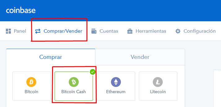 comprar bch coinbase