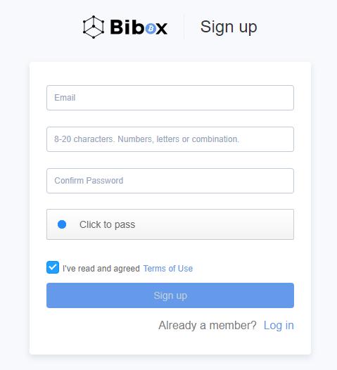 crear cuenta bibox exchange