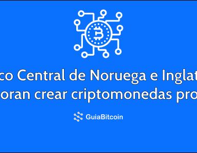 Banco Central de Noruega e Inglaterra exploran la posibilidad de crear criptomonedas