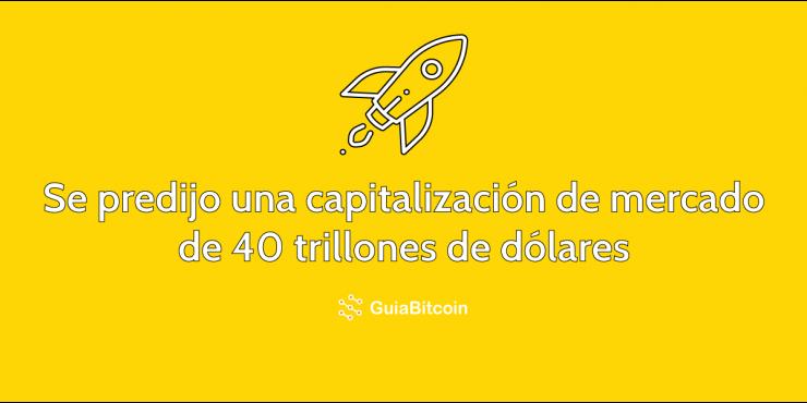 Una capitalización de mercado de 40 trillones de dólares se predijo